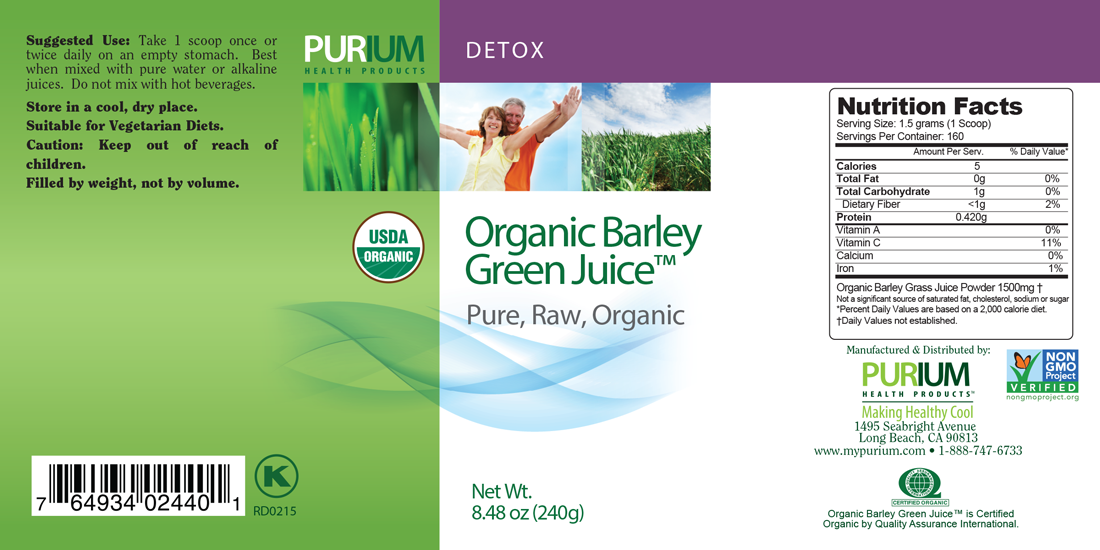 Organic By Nature Purium