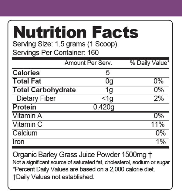 Barley Green Juice Organic 240 G Purium